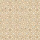 Light Brown Geometric Pattern by Cherie Balowski