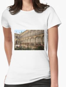 Italian Courtyard Womens Fitted T-Shirt