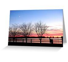 Sunset at Creve Coeur Lake in St. Louis Greeting Card