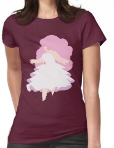 Floating Rose Womens Fitted T-Shirt