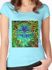 Psychedelic Sunshine Women's Fitted Scoop T-Shirt