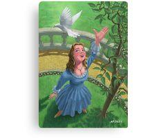 princess releasing bird Canvas Print