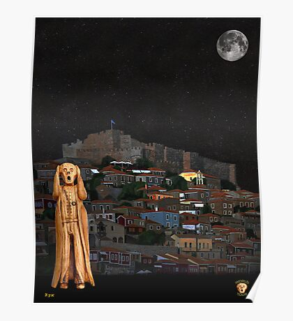 The Scream World Tour Molyvos Lesvos Greece Poster