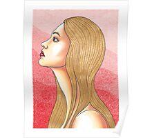 Golden Haired Portrait  Poster