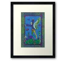 Thistle - Fairy on Harris Tweed Framed Print