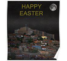 The Scream World Tour Molyvos Lesvos Greece Happy Easter Poster
