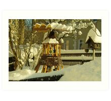 Winter in Front Garden Art Print