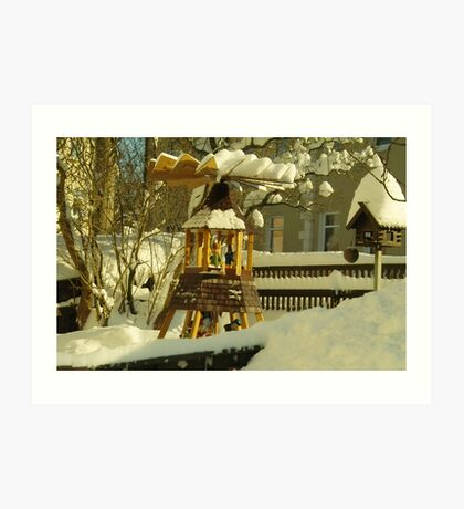Winter in Front Garden Art Print