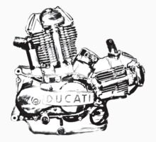 Ducati Engine Kids Clothes