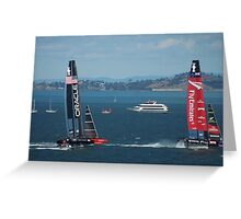 The America's Cup was a close race..... Greeting Card