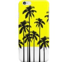 Colorful Summer Neon Yellow & Tropical Palm Trees iPhone Case/Skin