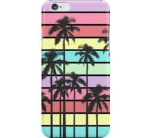 Colorful Summer Stripes with Tropical Palm Trees iPhone Case/Skin
