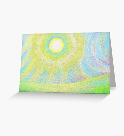 the sun shines brightly Greeting Card