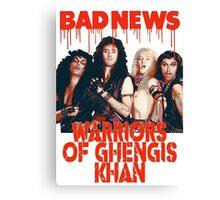 Bad News (Warrior of Ghengis Khan Canvas Print