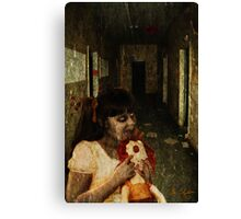 Zombie Girl With Doll Canvas Print