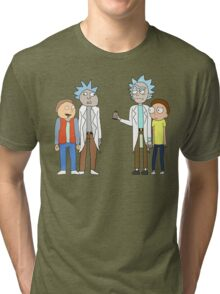 Doc and Mharti and Rick and Morty Tri-blend T-Shirt