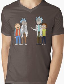 Doc and Mharti and Rick and Morty Mens V-Neck T-Shirt