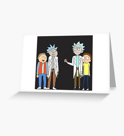 Doc and Mharti and Rick and Morty Greeting Card