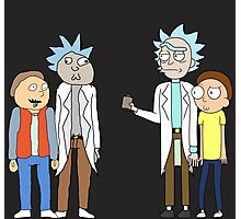 Doc and Mharti and Rick and Morty Photographic Print