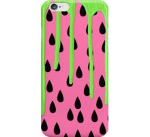 Funky Watermelon Neon Green Paint Drips iPhone Case/Skin