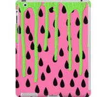 Funky Watermelon Neon Green Paint Drips iPad Case/Skin