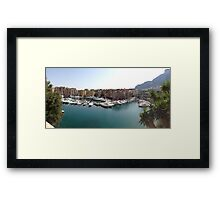Panoramic From Monaco Fontvielle Port South of France Framed Print