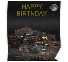 The Scream World Tour Molyvos Moonlight Happy Birthday Poster