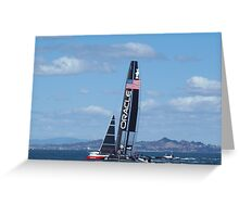 Oracle Team USA- America's Cup Greeting Card