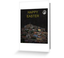 The Scream World Tour Molyvos Moonlight Happy Easter Greeting Card