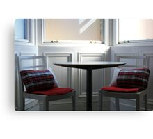 Tartan Chairs  Canvas Print