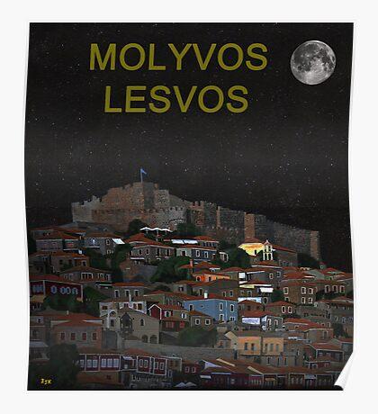 The Scream World Tour Molyvos Moonlight Lesvos Poster