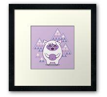 Funny fantastic animal Framed Print