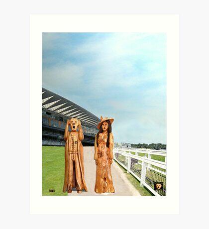 The Scream World Tour with Fashion Ascot Races Art Print