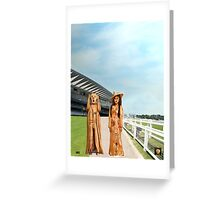 The Scream World Tour with Fashion Ascot Races Greeting Card