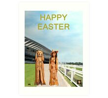 The Scream World Tour with Fashion Ascot Races Happy Easter Art Print