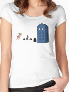 Studio Ghibli Meets the Doctor Women's Fitted Scoop T-Shirt