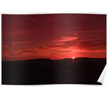 BOWLAND FELL SUNSET Poster