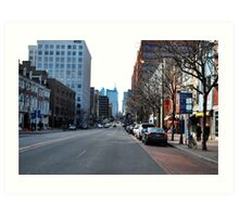 Looking west ( market St)  Art Print