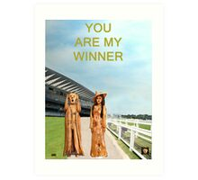 The Scream World Tour with Fashion Ascot Races you are my winner Art Print