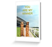 The Scream World Tour with Fashion Ascot Races you are my winner Greeting Card