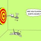 Mosquitoes Playing Darts by martoon