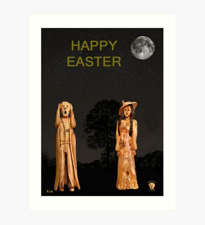 The Scream World Tour with Fashion Happy Easter Art Print