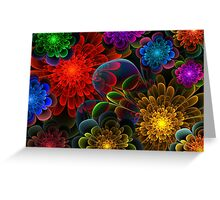 Fractal Bouquet Greeting Card