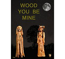 The Scream World Tour with Fashion Wood You Be Mine Photographic Print