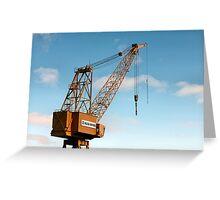 Shipyard Crane Greeting Card