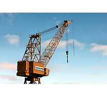 Shipyard Crane Photographic Print