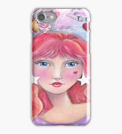 Red Headed Beauty iPhone Case/Skin