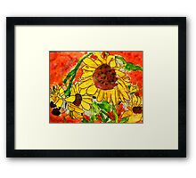 Crazy Daisey having a Hard Day, watercolor Framed Print