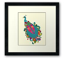 Psychedelic Peacock Framed Print