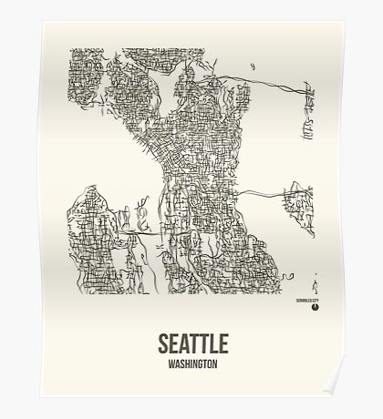 Seattle Washington Map Poster